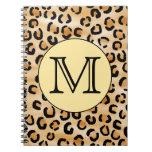 Modelo personalizado del estampado leopardo del mo cuadernos