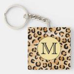 Modelo personalizado del estampado leopardo del mo llaveros