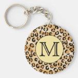 Modelo personalizado del estampado leopardo del mo llavero personalizado