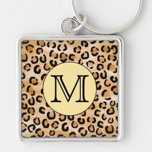 Modelo personalizado del estampado leopardo del mo llavero