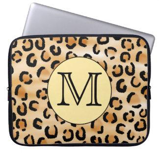 Modelo personalizado del estampado leopardo del mo mangas portátiles