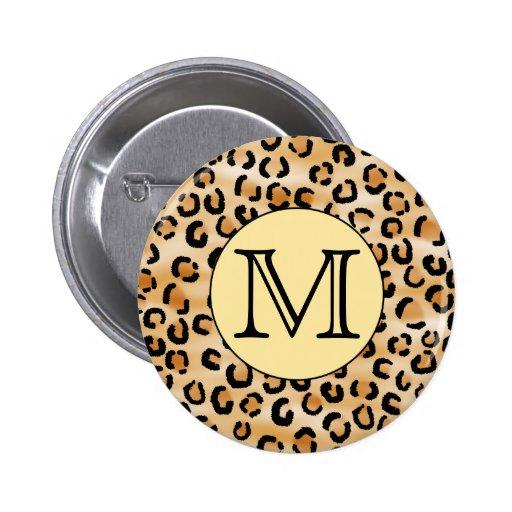 Modelo personalizado del estampado leopardo del mo pins