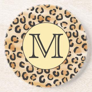 Modelo personalizado del estampado leopardo del mo posavasos cerveza