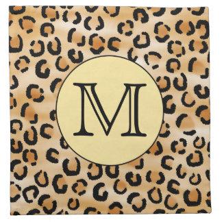 Modelo personalizado del estampado leopardo del mo servilletas de papel