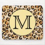 Modelo personalizado del estampado leopardo del mo tapete de raton