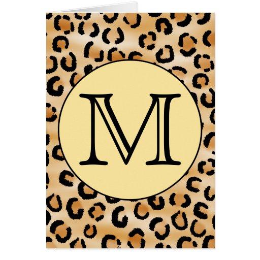 Modelo personalizado del estampado leopardo del mo felicitaciones