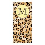 Modelo personalizado del estampado leopardo del mo diseños de tarjetas publicitarias