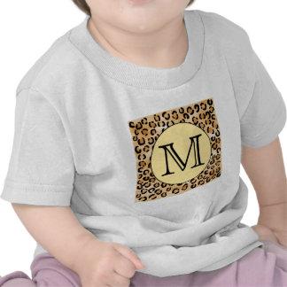 Modelo personalizado del estampado leopardo del camisetas