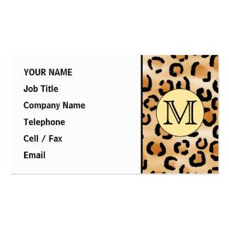 Modelo personalizado del estampado leopardo del tarjetas de visita