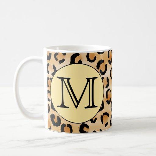 Modelo personalizado del estampado leopardo del taza