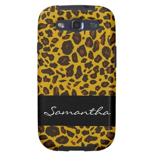 Modelo personalizado del leopardo funda para samsung galaxy s3