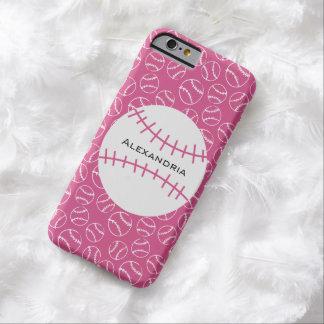 Modelo personalizado del softball del béisbol en funda barely there iPhone 6