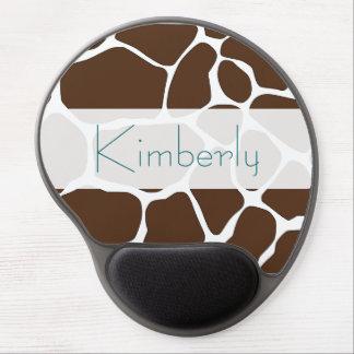 Modelo personalizado Mousepad de la jirafa de Brow Alfombrilla Gel