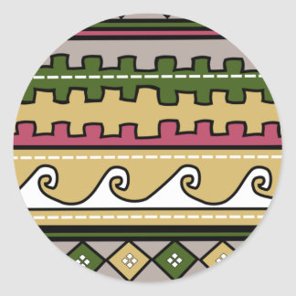 Modelo peruano pegatinas redondas