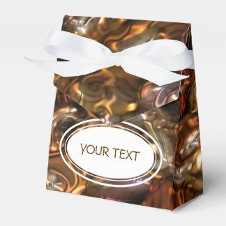 Modelo - piedras de oro del río + su texto caja para regalo de boda
