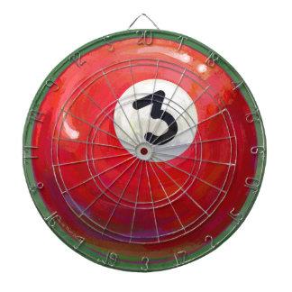 Modelo pintado de la bola de piscina 3