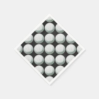 Modelo pintado de la pelota de golf servilleta desechable