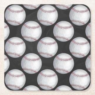 Modelo pintado del béisbol posavasos desechable cuadrado