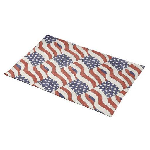 Modelo Placemat de la bandera americana Manteles