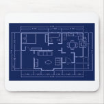 modelo - plan de la casa alfombrillas de ratones
