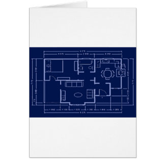 modelo - plan de la casa tarjeta de felicitación