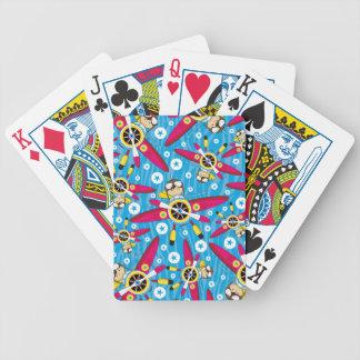 Modelo plano y experimental del dibujo animado cartas de juego
