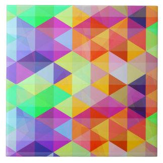 Modelo poligonal del triángulo colorido azulejo cuadrado grande