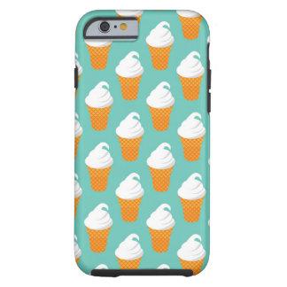 Modelo poner crema del cono de Vanilla Ice Funda De iPhone 6 Tough