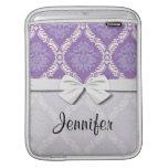 modelo poner crema púrpura del damasco funda para iPads