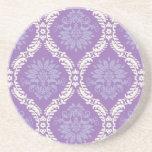 modelo poner crema púrpura del damasco posavasos diseño