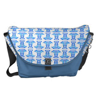 Modelo popular blanco azul bolsas messenger