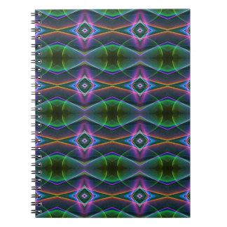 Modelo popular del neón del verde de la lavanda spiral notebook