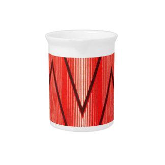Modelo popular francés ruso, zigzags rojos jarra para bebida