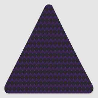 Modelo principal extranjero de neón púrpura pegatina triangular