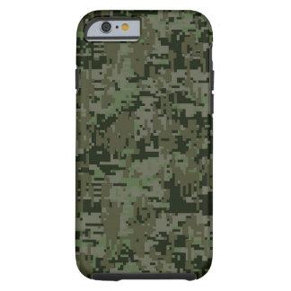 Modelo profundo de Camo del camuflaje de Digitaces Funda Resistente iPhone 6