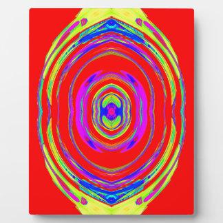 Modelo psicodélico abstracto: placa de madera