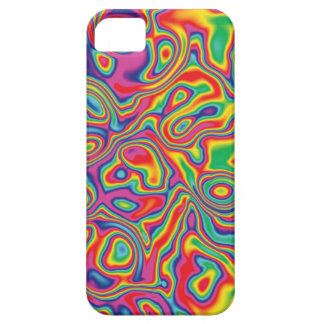 Modelo psicodélico del aceite del arco iris iPhone 5 carcasas