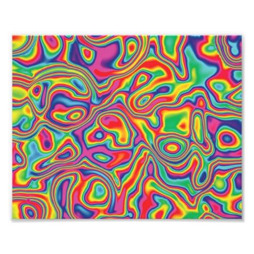 Modelo psicodélico del aceite del arco iris impresiones fotograficas
