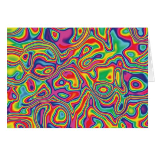 Modelo psicodélico del aceite del arco iris tarjeta de felicitación