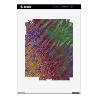 Modelo psicodélico del extracto de la cebra iPad 3 skins