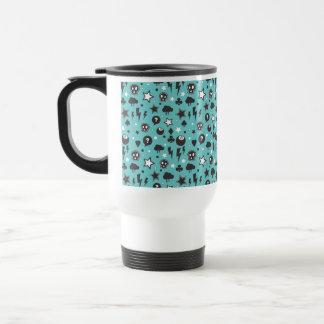 Modelo punky femenino del trullo taza de café