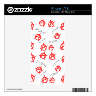 Modelo punky iPhone 4S skins