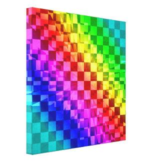 Modelo punky retro del control del arco iris 80s lienzo envuelto para galerías