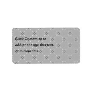 Modelo punteado del gris etiqueta de dirección