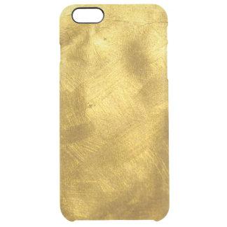 Modelo puro oxidado de la textura del oro funda clearly™ deflector para iPhone 6 plus de unc