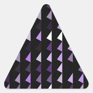 modelo púrpura 09 de la pirámide pegatina triangular