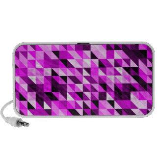 Modelo púrpura abstracto retro del triángulo altavoz de viajar