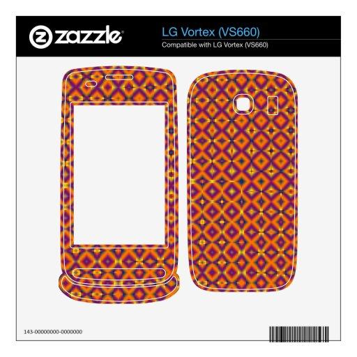 modelo púrpura anaranjado colorido calcomanías para LG vortex