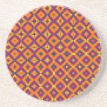 modelo púrpura anaranjado del diamante posavasos personalizados