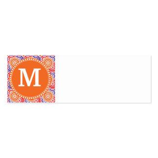Modelo púrpura anaranjado personalizado del tarjetas de visita mini
